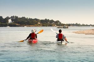 kayak dans golfe du morbihan