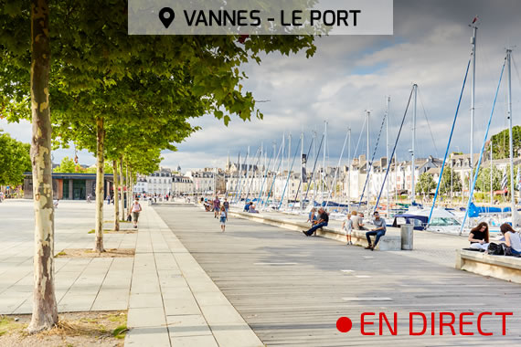 webcam du port de vannes