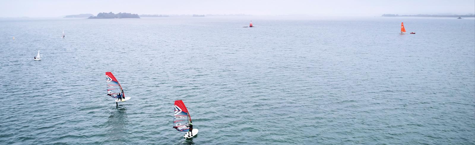 windsurf dans golfe du morbihan